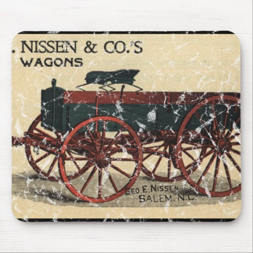 Geo. E. Nissen Wagons-1823 - distressed Mouse Pad
