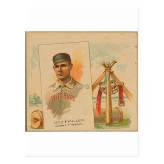 Geo. F. Miller, Pittsburg Alleghenys Postcard