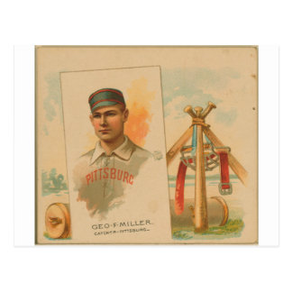 Geo. F. Miller, Pittsburg Alleghenys Postales