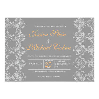 "Geo foulards wedding invitation 7""x5"""