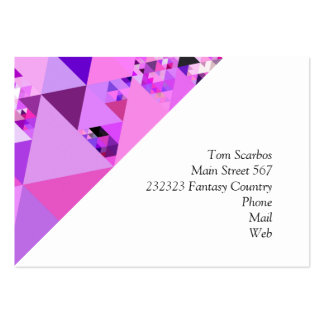 Geo Fun 19 pink (I) Large Business Card