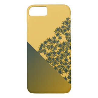 Geo Green and Gold Star Team Spirit Sports Colors iPhone 8/7 Case