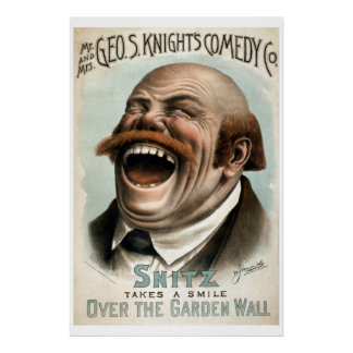 Geo H White's Comedy Co Vintage Theater Poster