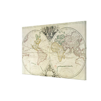 Geo-Hydrographic Mappamonde Canvas Print