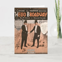 Geo. M. Cohan Hello Broadway Card