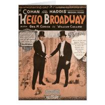 Geo. M. Cohan Hello Broadway Card