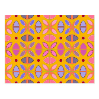 [GEO-OR-1] Cute geometric patterns on orange Postcard