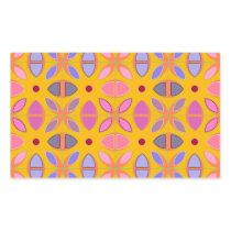 [GEO-OR-1] Cute geometric patterns on orange Rectangular Sticker