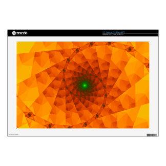 Geo Orange Fractal Decal For Laptop