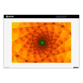 Geo Orange Fractal Laptop Skins