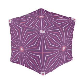 Geo Phlox Cube Pouf