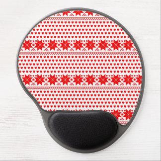 [GEO-RD-1] Estrellas del navidad rojo y blanco Alfombrillas Con Gel