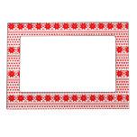 [GEO-RD-1] Estrellas del navidad rojo y blanco Marcos Magneticos De Fotos