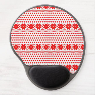 [GEO-RD-1] Red and white Christmas stars Gel Mouse Pad