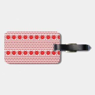 [GEO-RD-1] Red and white Christmas stars Luggage Tags