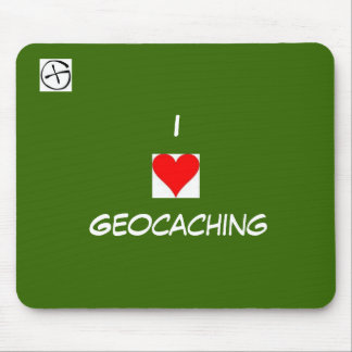geo symbol, heart, I, Geocaching Mouse Pad