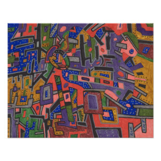 Geo-Tech abstract Print