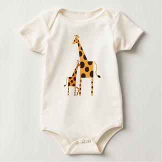 Geo the Giraffe & Mama Organic Infant Bodysuit