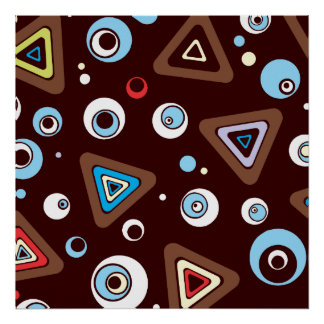 Geo Triangles Poster