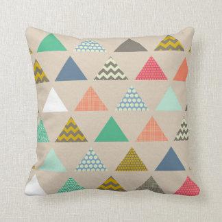 geo triangles throw pillow