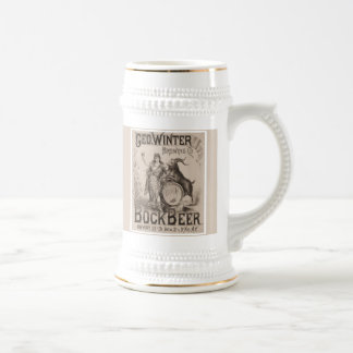 Geo. Winter Brewery Bock Beer Beer Stein