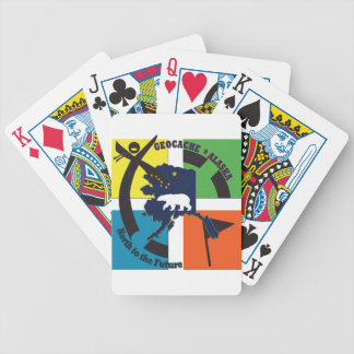 GEOCACHE ALASKA- NORTH TO THE FUTURE BICYCLE PLAYING CARDS