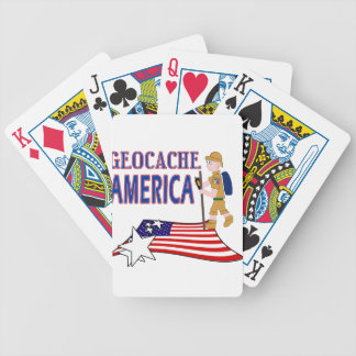 GEOCACHE AMERICA DUDE GUY MALE BICYCLE PLAYING CARDS