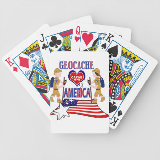GEOCACHE AMERICA GEOCACHING BICYCLE PLAYING CARDS