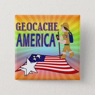 GEOCACHE AMERICA  GIRL CHICK BUTTON