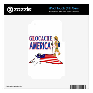 GEOCACHE AMERICA  GIRL CHICK iPod TOUCH 4G DECAL