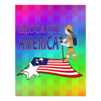 GEOCACHE AMERICA  GIRL CHICK LETTERHEAD