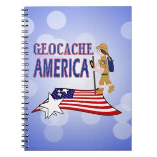 GEOCACHE AMERICA  GIRL CHICK NOTEBOOK