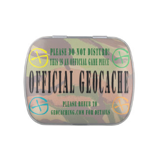 Geocache Candy Tin