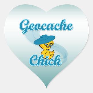 Geocache Chick #3 Heart Sticker