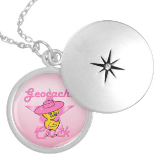 Geocache Chick #8 Silver Plated Necklace