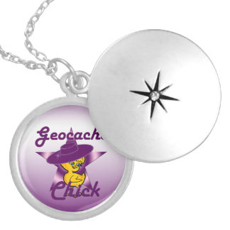 Geocache Chick #9 Locket Necklace