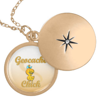 Geocache Chick Gold Plated Necklace
