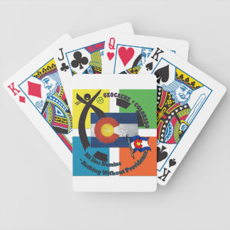 GEOCACHE COLORADO MOTTO BICYCLE PLAYING CARDS