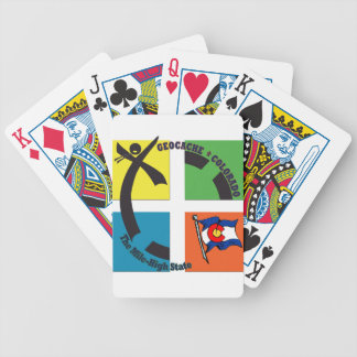 GEOCACHE COLORADO THE MILE HIGH STATE BICYCLE PLAYING CARDS