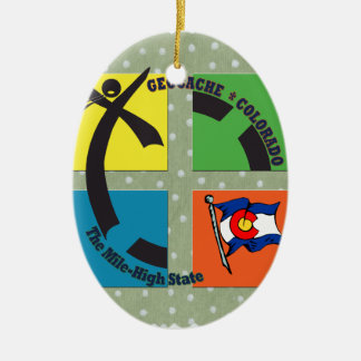 GEOCACHE COLORADO THE MILE HIGH STATE CERAMIC ORNAMENT