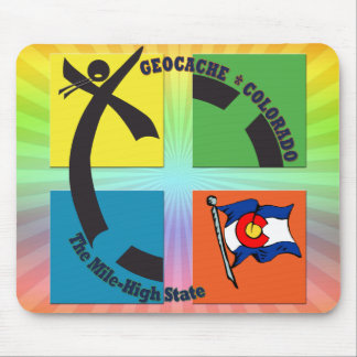 GEOCACHE COLORADO THE MILE HIGH STATE MOUSE PAD