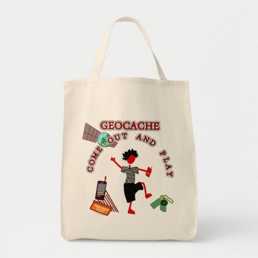 Geocache Come Out And Play Canvas Bags