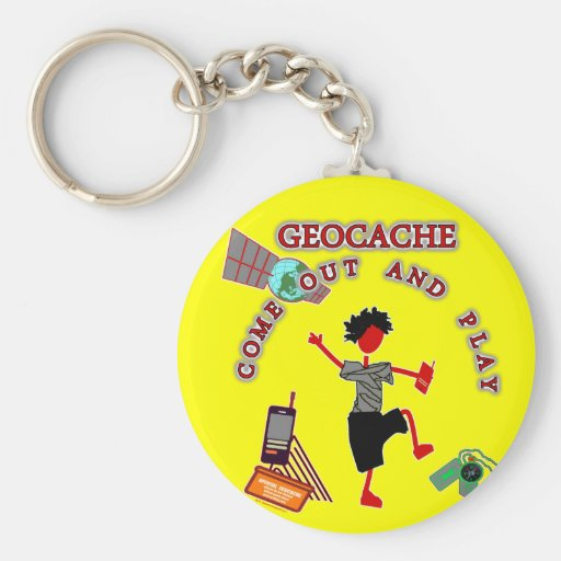 Geocache Come Out And Play Keychain