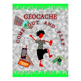 Geocache Come Out And Play Postcard