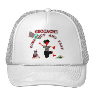 Geocache Come Out And Play Trucker Hat