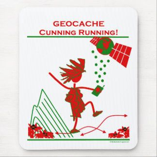 Geocache - Cunning Running Mouse Pad
