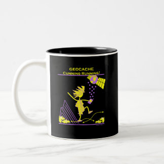 Geocache - Cunning Running Two-Tone Coffee Mug
