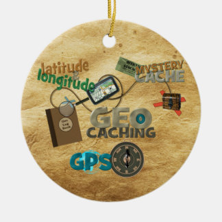 Geocache Fever - Customize Ceramic Ornament