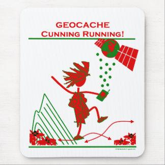 Geocache - funcionamiento astuto tapetes de ratón