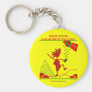 Geocache Gift - Cache me if you can! Gifts & T's Basic Round Button Keychain